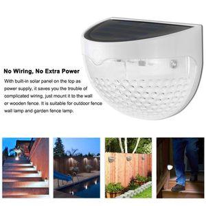 APPLIQUE  solaire étanche 6 LED lampe de mur de lumière de l