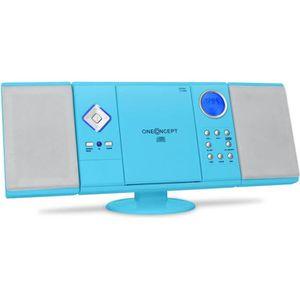 CHAINE HI-FI oneConcept V-12 Mini chaîne stereo bleue ultra-pla