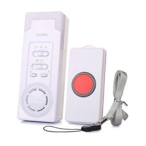 ALEENFOON Maison Alerte Alarme Sans Fil Patiente Personne /Âg/ée Personnelles Syst/ème DAlarme et Bouton DAppel DUrgence Alarme Pager Rouge 1 en 1