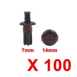 SOURCING MAP 20pcs Rivet en plastique Trou 7mm T/ête 24.5mm Clip de retenue Garniture porte voiture Beige