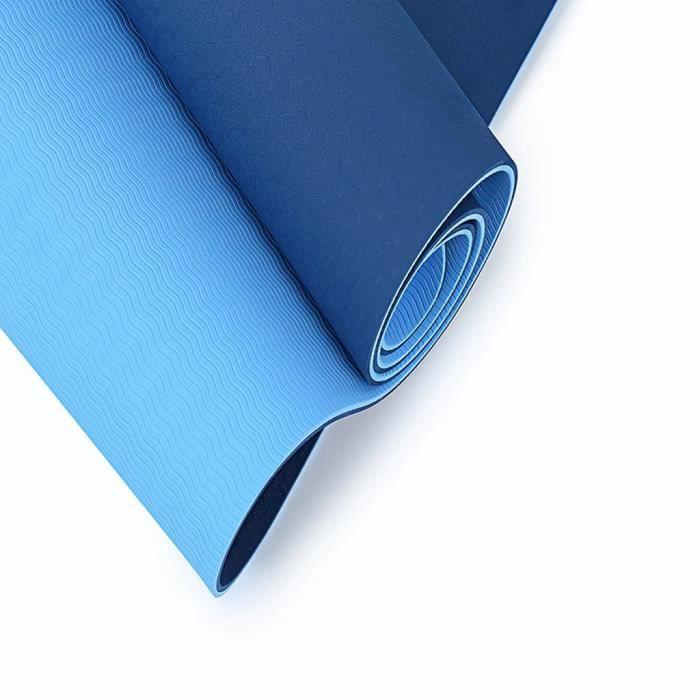 Tapis de yoga double couleur antidérapant TPE Tapis de fitness de sport en plein air écologique TAPIS DE YOGA 114