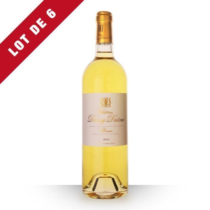Lot de 6 - Château Doisy-Daëne 2016 AOC Sauternes - 6x75cl - Vin Blanc