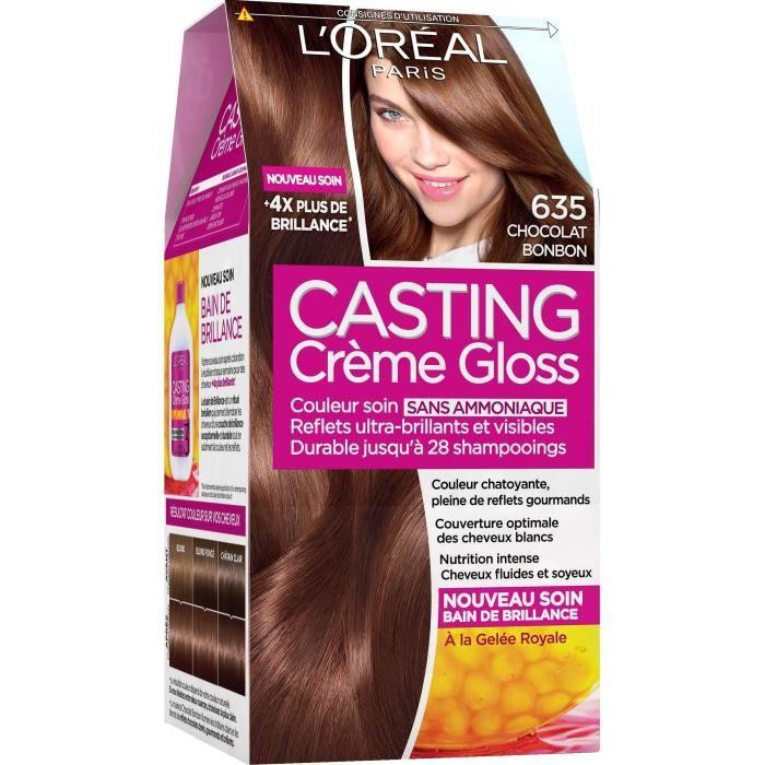 L'OREAL PARIS Crème Gloss coloration Casting 6,35 - Chocolat Bonbon
