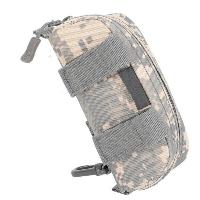 ACU -Sacoche tactique Molle pour lunettes de soleil, étui étanche, Camouflage, fermeture éclair, ceinture pour lunettes, pochette po