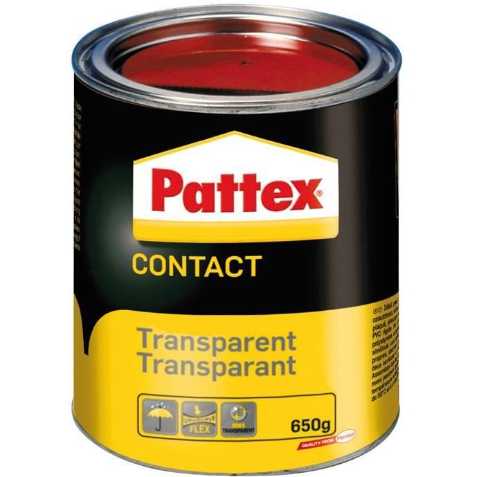 Pattex colle contact transparente 650g