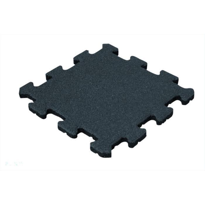 Dalle amortissante Puzzle 50 mm - 50 x 50 cm - noir