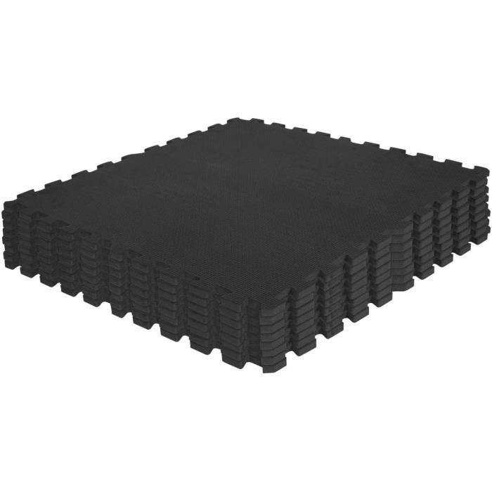 Tapis de fitness carrées de Protection - 1,2 cm d'épaisseur - Coloris : Noir, Rouge, Gris, Bleu, Bois foncé, Bois Clair, Gazon A246