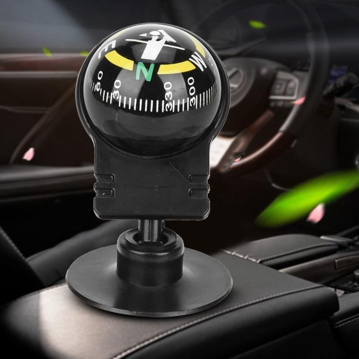 Garosa Boussole 2PCS LC282 ABS boussole de voiture Portable boussole de guidage avec ventouse outils de navigation extérieure