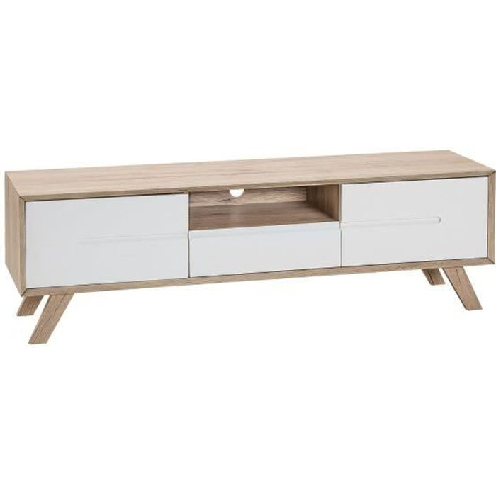 Beliani - Meuble TV blanc/bois FORESTER