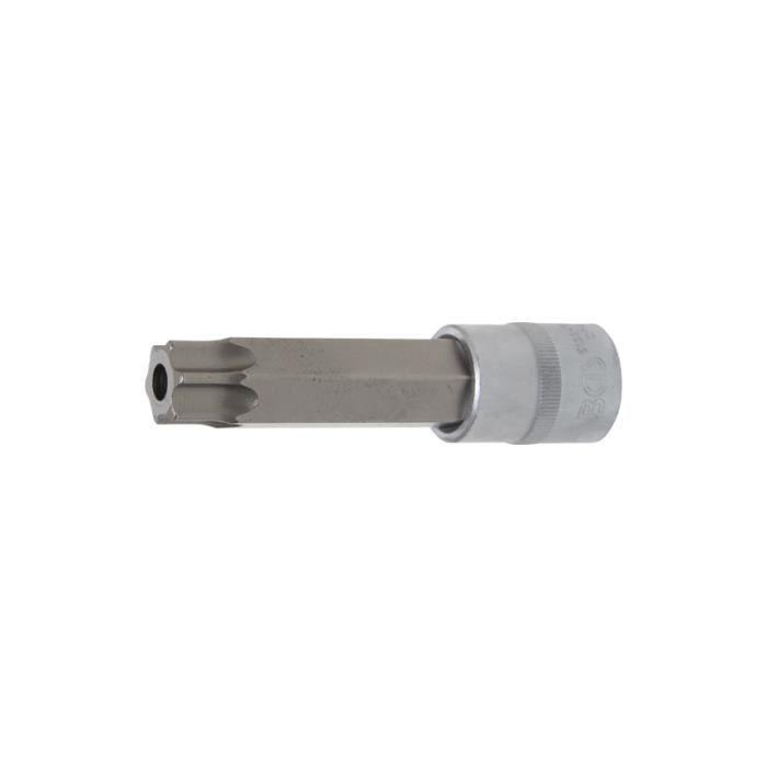 Douille à embouts longueur 110 mm 12,5 mm (1/2-) profil T (pour Torx) avec perçage T90