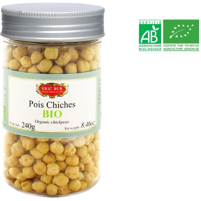 ERIC BUR Pois Chiches Bio - 240 g