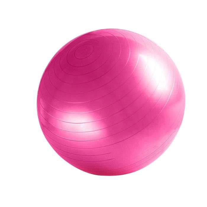 Ballon de gymnastique/ fitness anti-éclatement D. 65 cm en PVC (Rose) - D-Work