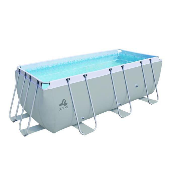 Piscine hors-sol tubulaire Passaat - Jilong - Gris - Filtration à sable - 500x250x122cm - Capacité 13752L - Hauteur d'eau 109cm