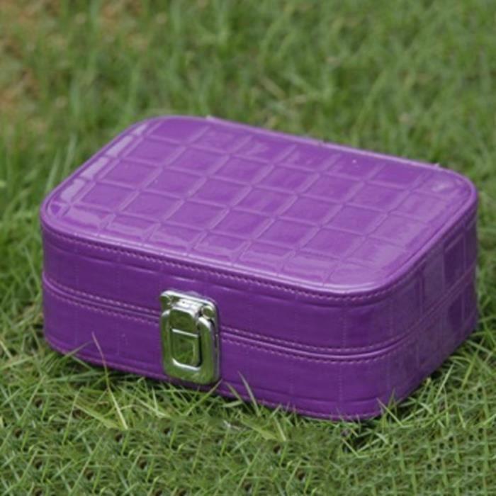 New Women Travel Portable Maquillage Cosmétique Trousse de toilette Trousse de toilette Sac à main, Violet