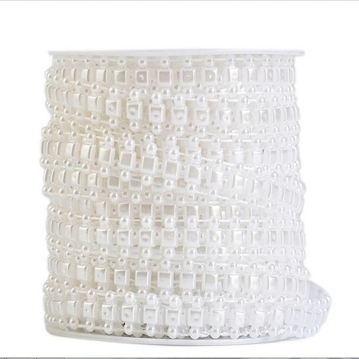 10M guirlande perle acrylique collier chaîne perles-blanc