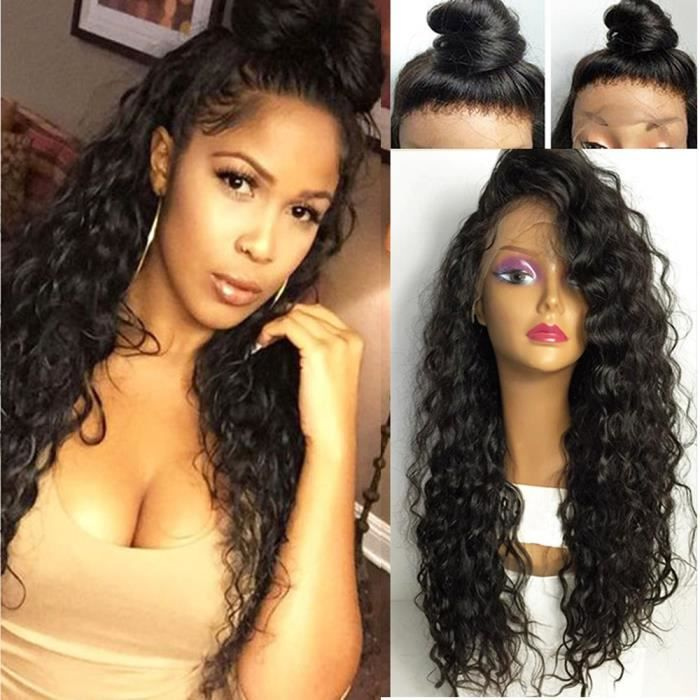 Perruque bresilienne cheveux humain lace front wig deep wave