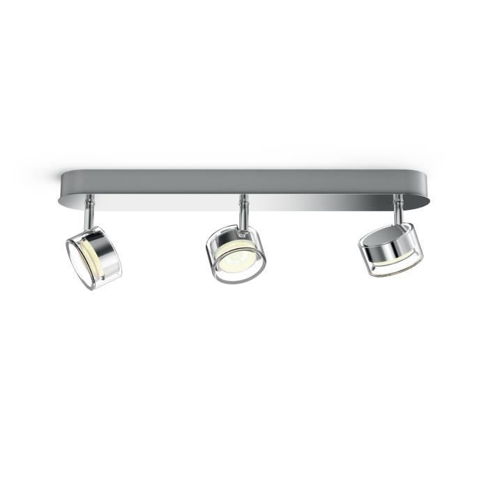 Philips myLiving 5056311P0, Surfaced lighting spot, 3 ampoule(s), LED, 4,5 W, 1500 lm, Chrome