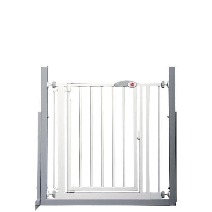 RED CASTLE Barrière de sécurité enfant 68,5-75 cm - Blanc - Ouverture Portillon