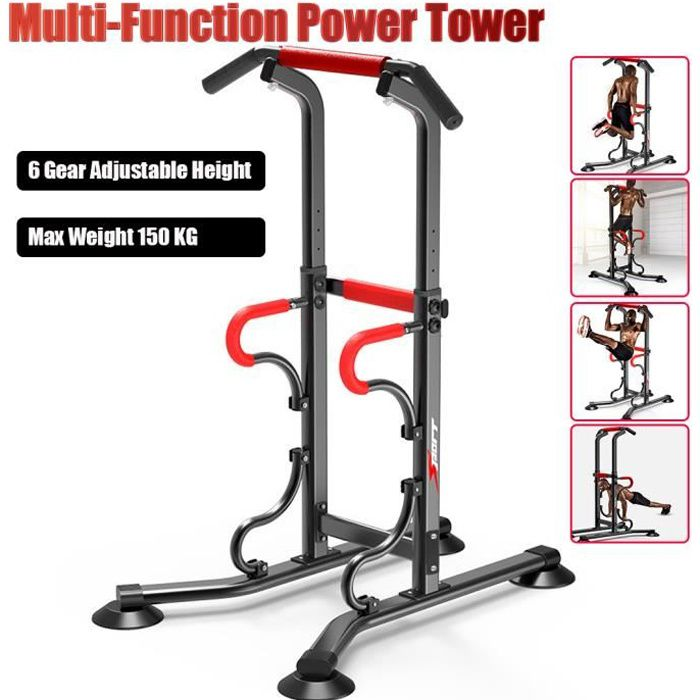 SINBIDE® Station Traction dips Multifonctions Barre de Traction dips Banc de Musculation Pullup Fitness barre