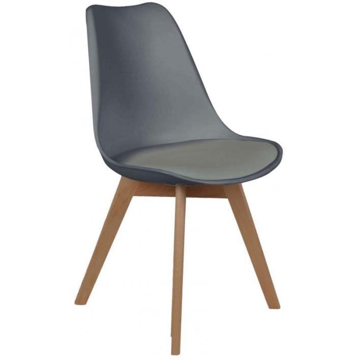 Chaise scandinave coque polypropylène et coussin • Chaise • Chaise scandinave coque polypropylène et coussin • 74943