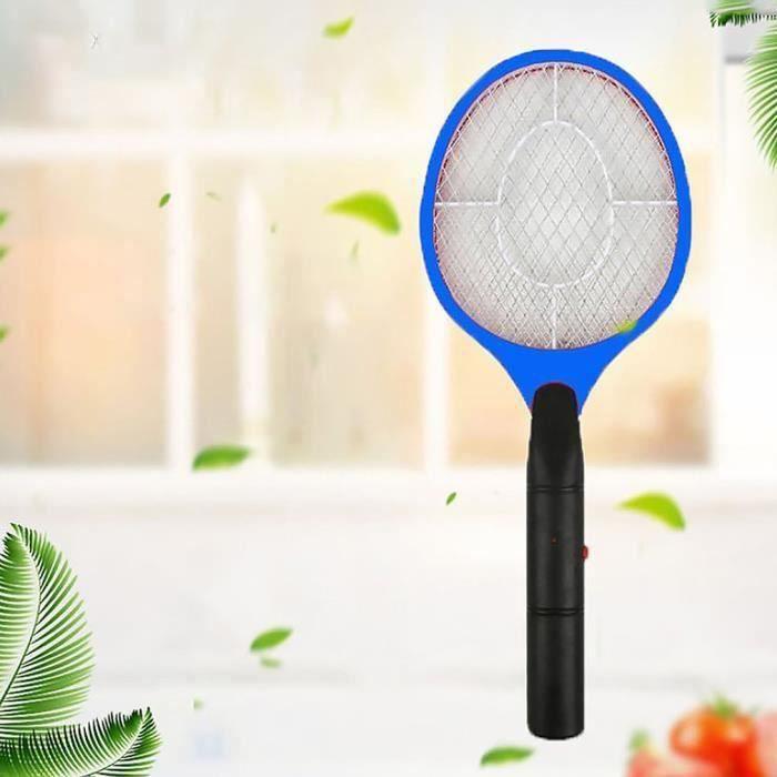 TL09440-Tapette de mouche de raquette d'insecte de charge de batterie Zapper, tueur de moustique électrique, bleu