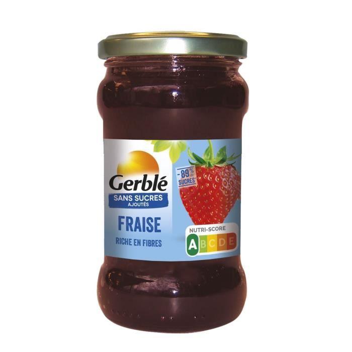 GERBLE Confiture de fraise sans sucres ajoutés - 320 g