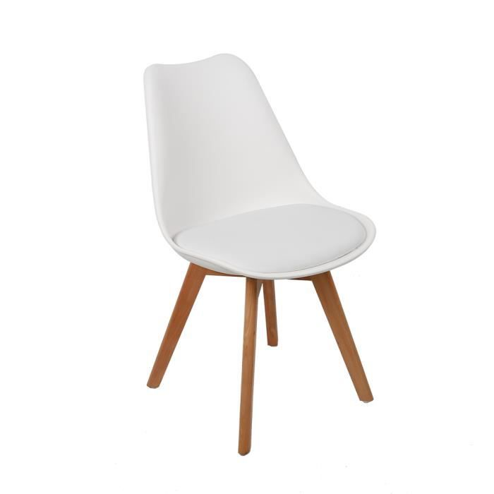 4 de Catherina chaises style scandinave Achat Lot Blanc 5Rq3A4LcjS