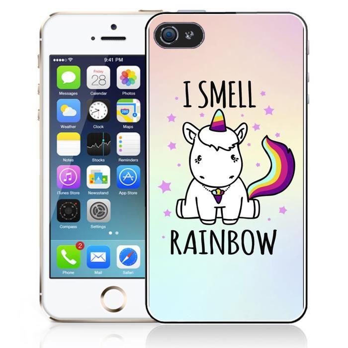 coque iphone 5c licorne i smell rainbow