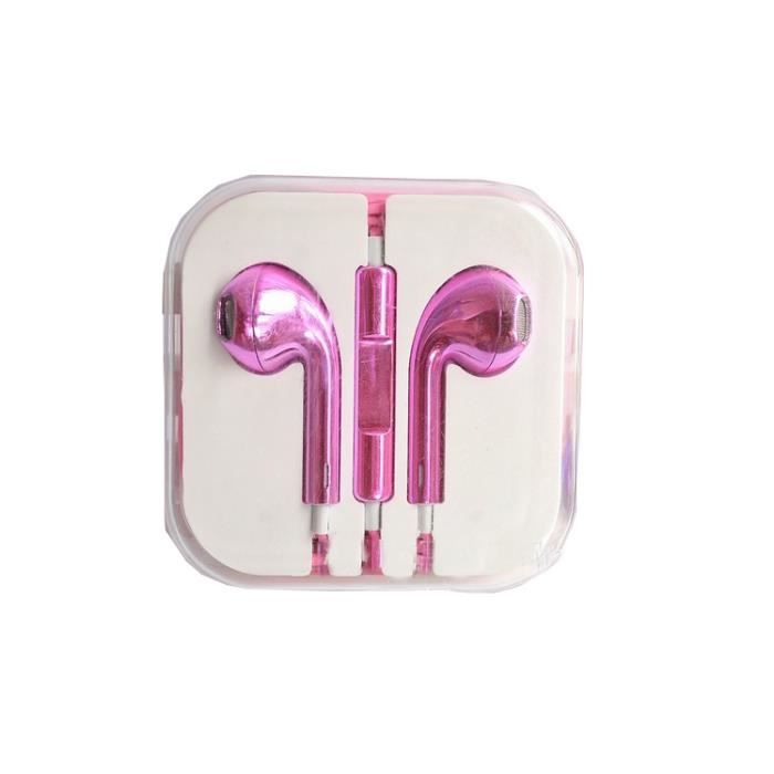 ecouteur pour iphone 5 earpods couleur rose fluo achat vente ecouteur pour iphone 5 earp. Black Bedroom Furniture Sets. Home Design Ideas