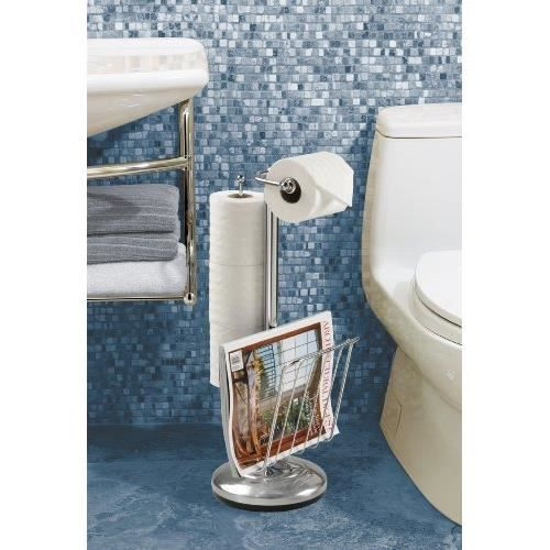 69508 toilet caddy serviteur a papier toilette porte for Porte revue toilette