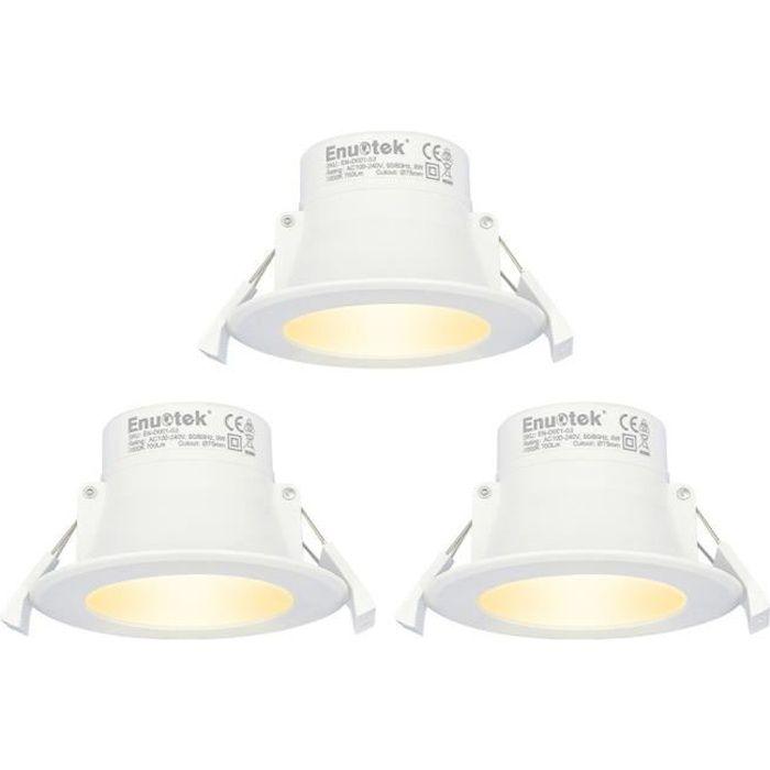 Bloomwin Spot Encastrable LED Rond Encastr/é Lampe Spot Bicolore LED Plafond 3 Modes d/éclairage 24W Downlight Plafonnier Blanc+Bleu