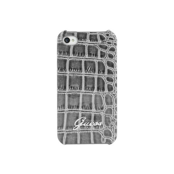 coque iphone 4 rigide eco cuir gris d 39 origine achat vente coque iphone 4 rigide eco cdiscount. Black Bedroom Furniture Sets. Home Design Ideas