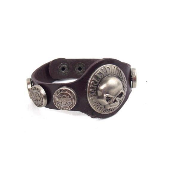 bracelet cuir harley davidson