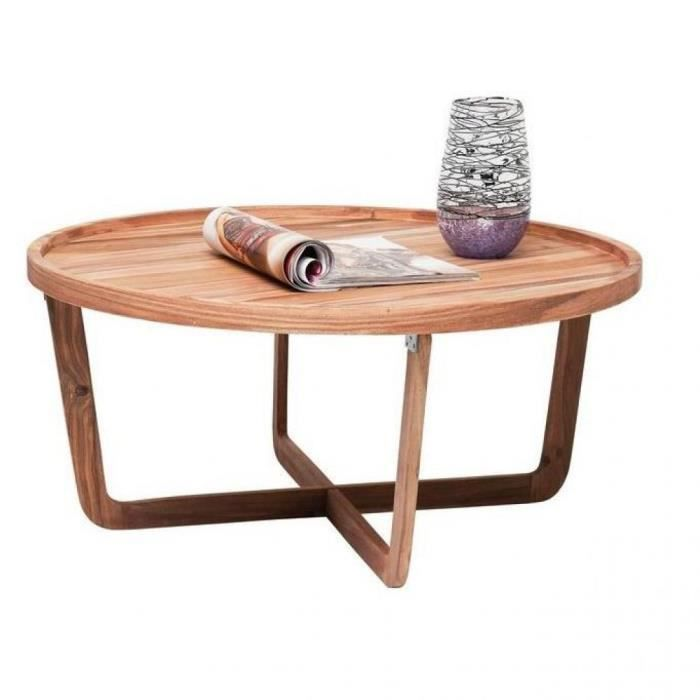 table basse ronde wild bois massif achat vente table. Black Bedroom Furniture Sets. Home Design Ideas