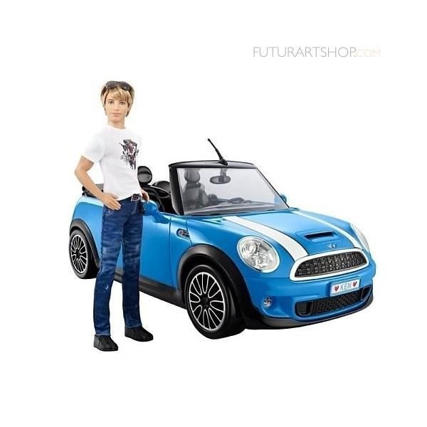 mattel ken et sa mini cooper x 2850 achat vente voiture construire cdiscount. Black Bedroom Furniture Sets. Home Design Ideas