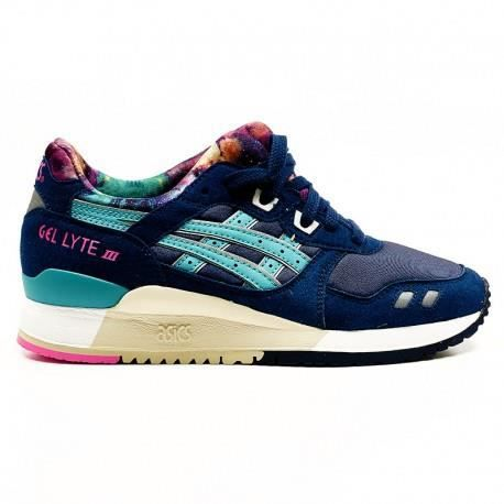 basket femme asics gel lyte iii navy galaxy bleu bleu achat vente basket soldes d s le 10. Black Bedroom Furniture Sets. Home Design Ideas