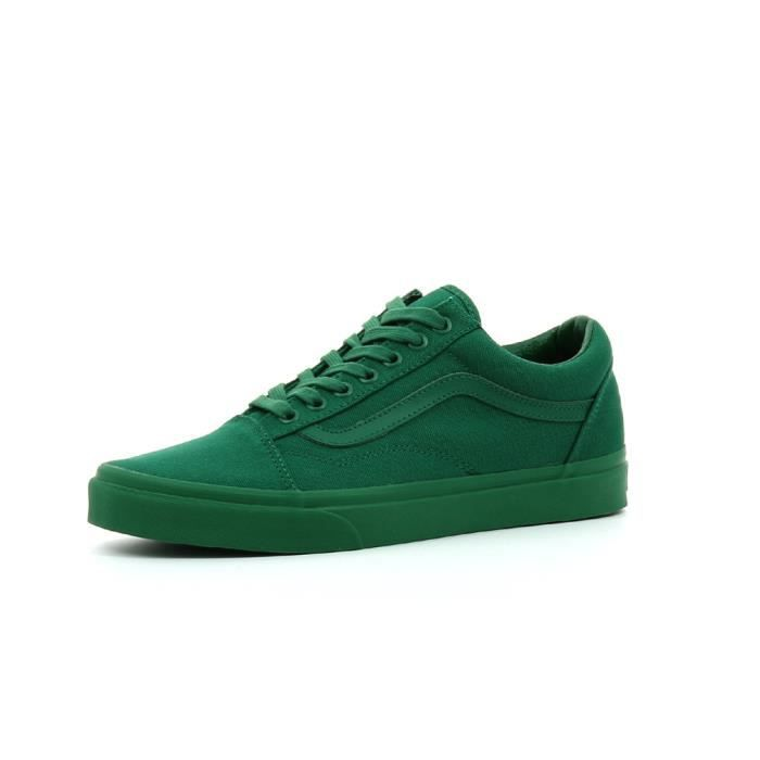 vans verte old skool canva