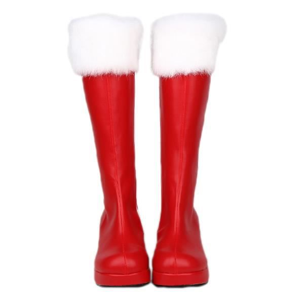 ROUGES PERE LOLITA MONTANTES FOURREES NOEL BOTTES CUIR wOmN8nvy0