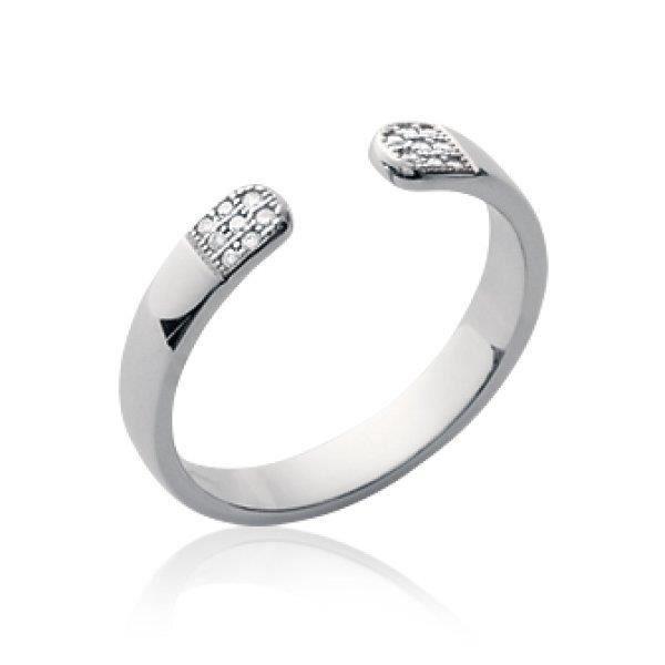 BAGUE - ANNEAU Bague anneau ouvert femme - argent 925 massif rhod