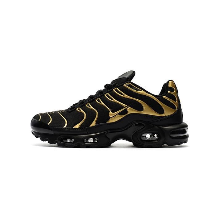 newest detailed pictures release date Basket Nike Air Max Réglés Plus TN TXT Chaussures Homme Entraînement  604133-050 Noir/Or