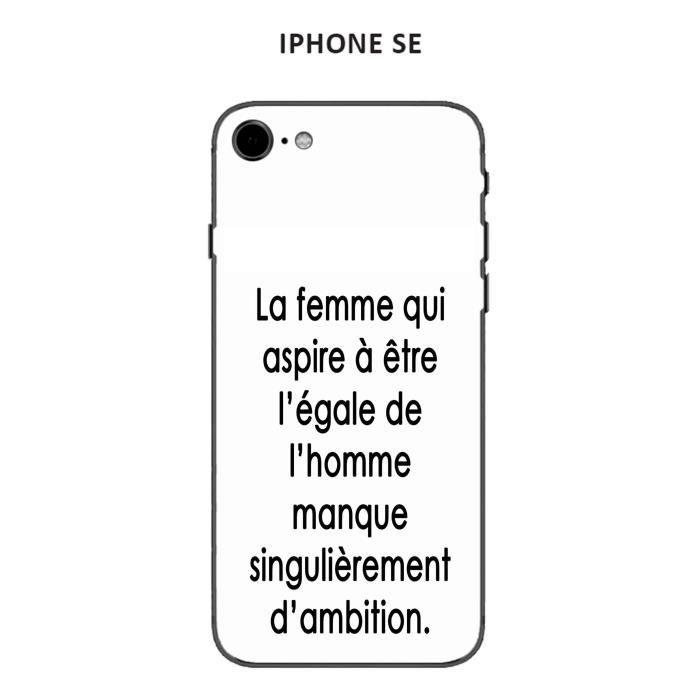 coque iphone se 2020 design citation la femme