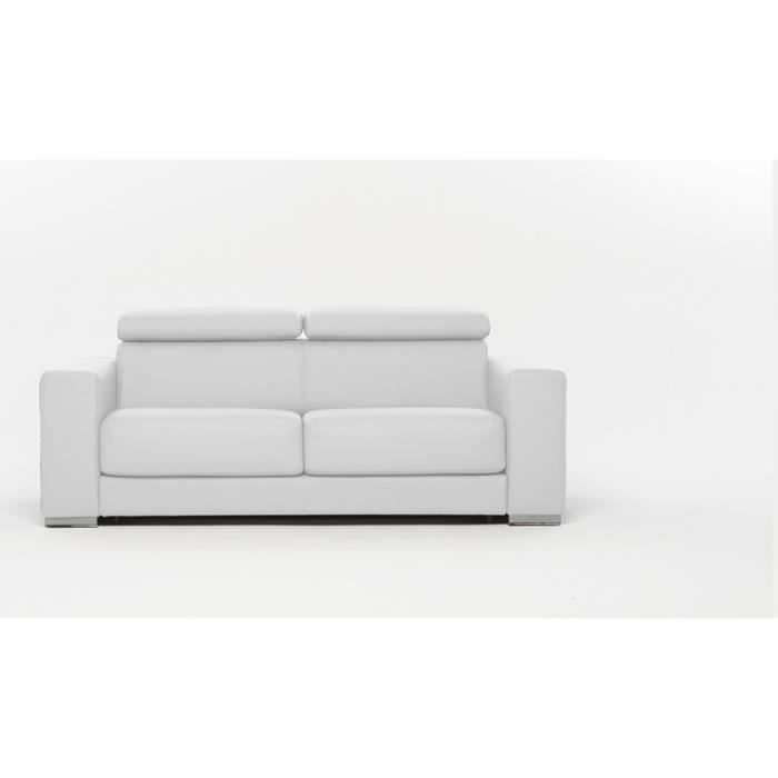 canap convertible lit riga simili cuir blanc achat vente canap sofa divan simili. Black Bedroom Furniture Sets. Home Design Ideas