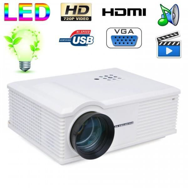 vid oprojecteur led 170w 3000 lumens full hd 1080p home cinema blanc achat vente. Black Bedroom Furniture Sets. Home Design Ideas