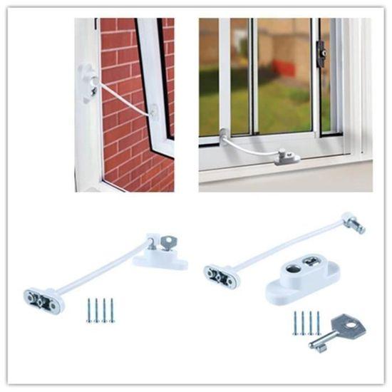 Blanc Fenêtre Porte Câble Bride Enfant Sécurité Verrouillage Upvc sécurité MAX6MUM
