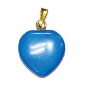 PENDENTIF VENDU SEUL Pendentif coeur howlite turquoise