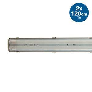 TUBE LUMINEUX Boîtier étanche 2 tubes LED 120cm