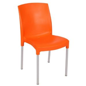 Chaise de jardin orange