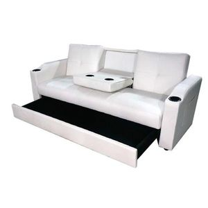 canape lit bar avec tiroir blanc achat vente canap sofa divan soldes cdiscount. Black Bedroom Furniture Sets. Home Design Ideas
