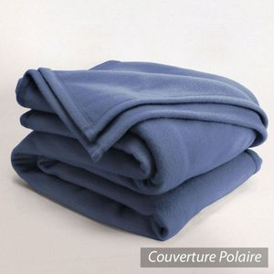 COUVERTURE - PLAID Couverture polaire 220x240cm Isba Marine 100% Poly