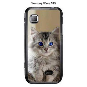 Onozo Coque Samsung Wave 575 Design Chat Tigre Blanc